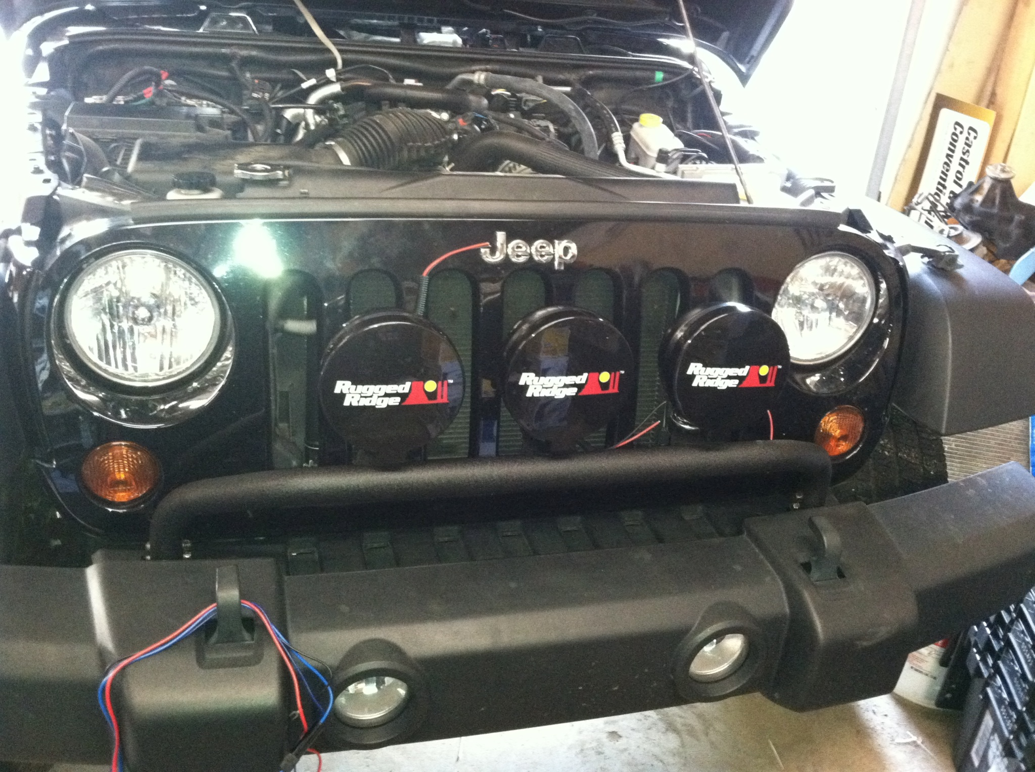 Mopar Light Bar Rugged Ridge Off Road Install On 2010 Jeep Cj Harness The Wiring They Send With It Is Nice But A Little Short We Had To Extend Wires Make Reach Inside I Cant Imagine Any Vehicle Being Much