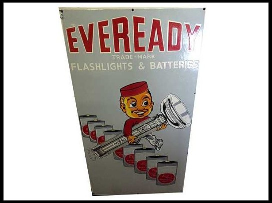 Eveready-Flashlights-And-Batteries-Sign